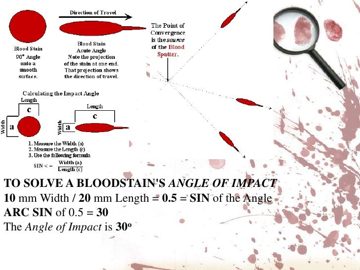 Blood spatter analysis ppt