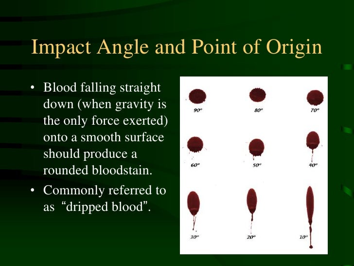 Bloodstain Pattern Recognition