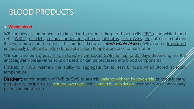 What Blood Products Can Be Stored At Room Temperature