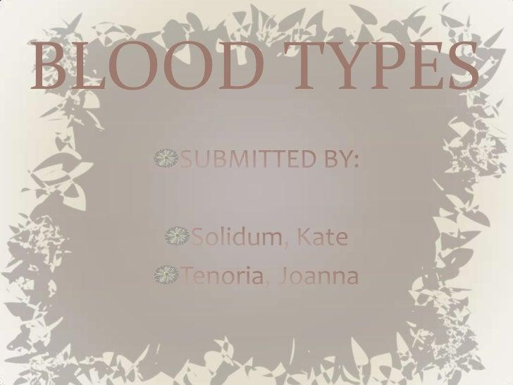 BLOOD TYPES          1