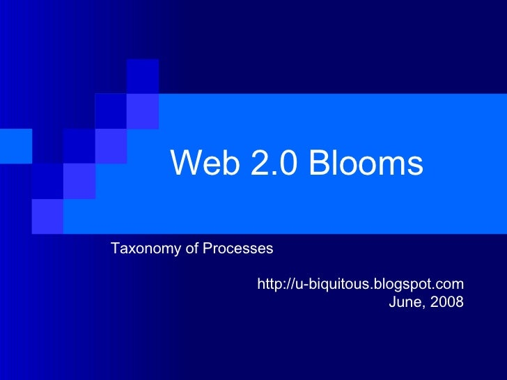 Web 2.0 Blooms  Taxonomy of Processes http://u-biquitous.blogspot.com June, 2008