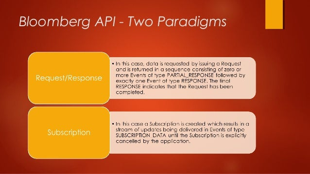 Bloomberg API Open Source Development and Solution Providers