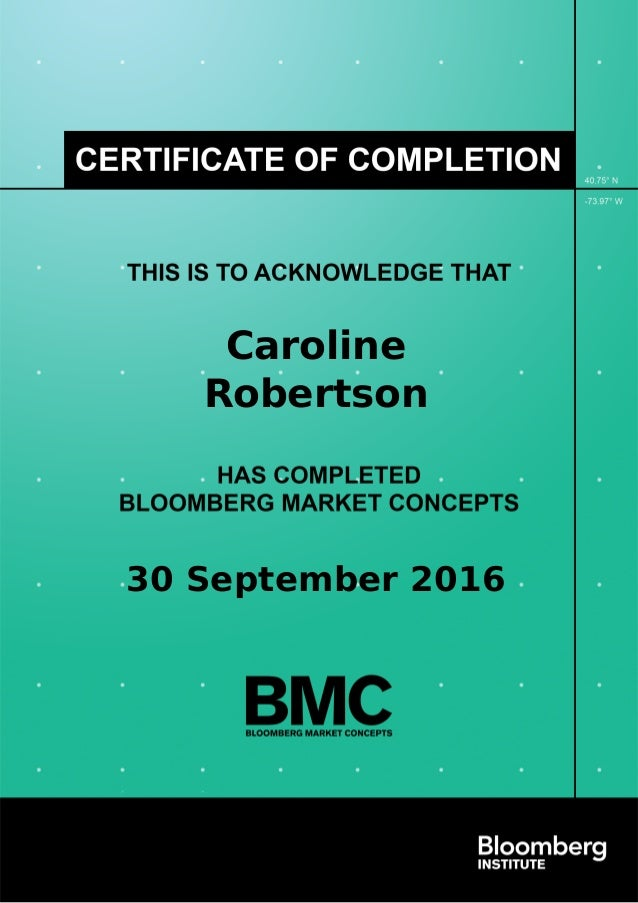 bloomberg certificate market certification concepts bmc completion slideshare markets upcoming savvy finance application job even before russian linkedin 300hours