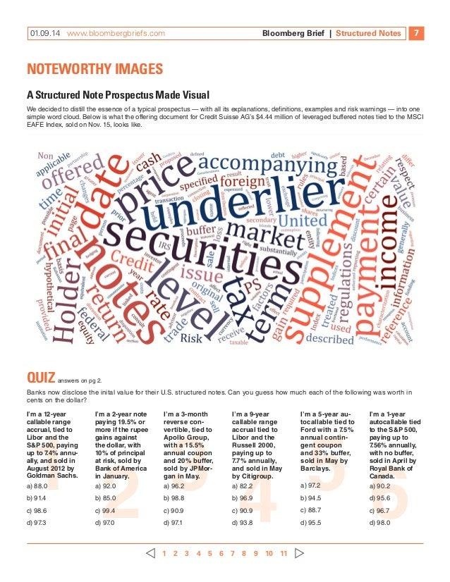 bloomberg brief structured notes investments