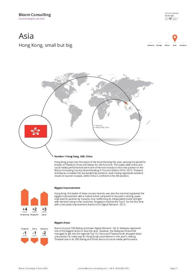 Asia Hong Kong, small but big Bloom Consulting Countries Regions and Cities Number 1 Hong Kong, SAR, China Hong Kong jumps...