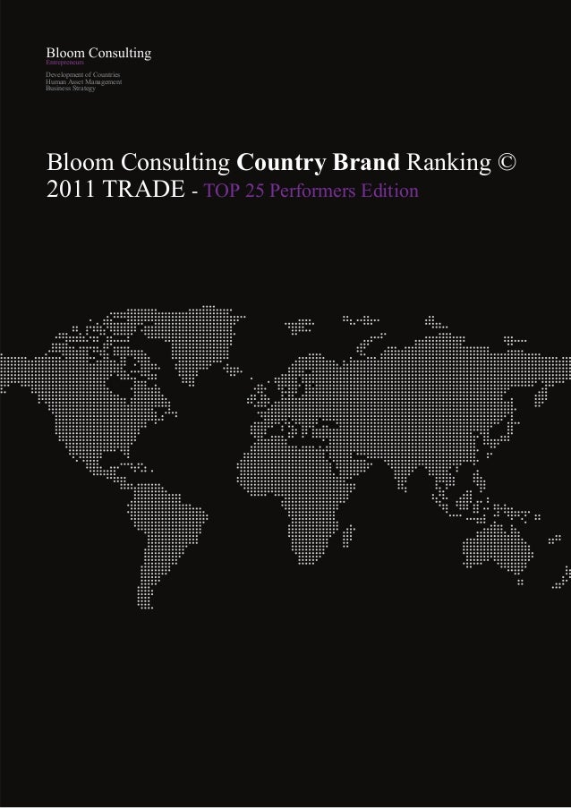 Development of CountriesHuman Asset ManagementBusiness StrategyBloom Consulting Country Brand Ranking ©2011 TRADE - TOP 25...