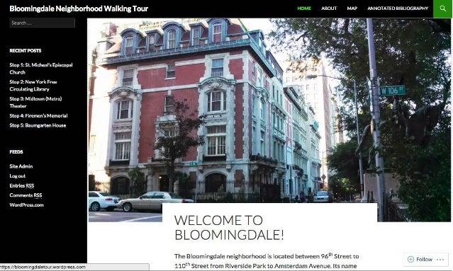 Bloomingdale Walking Tour Map
