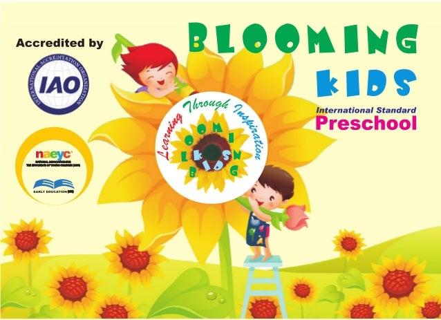 Blooming kids preschool brochure (preschools in bangalore)