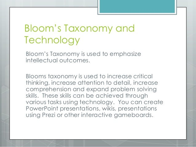 blooms taxonomy applied to stage theory A simple explanation of blooms taxonomy of learning domains covering each of the three learning types (domains) and the principles of the levels (taxonomy) i am trying to understand how we could connect bloom's taxonomy in designing the training.
