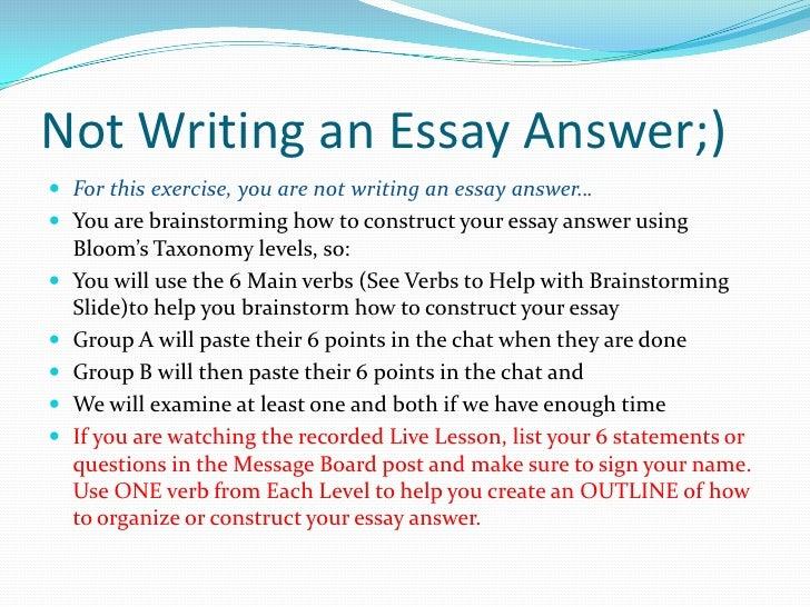 essay preparation for final exam