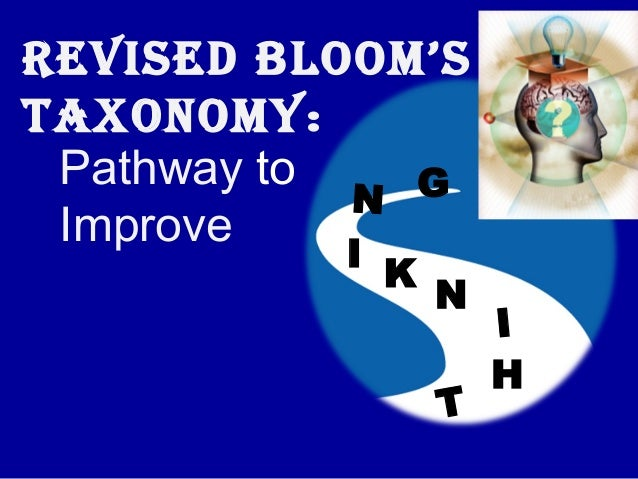 REVISED BLOOM'STAXONOMY: Pathway to   G            N Improve          I              K                  N                 ...