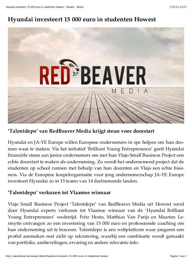 7/07/13 10:23Hyundai investeert 15 000 euro in studenten Howest - Nieuws - Bloovi Pagina 1 van 2http://www.bloovi.be/nieuw...