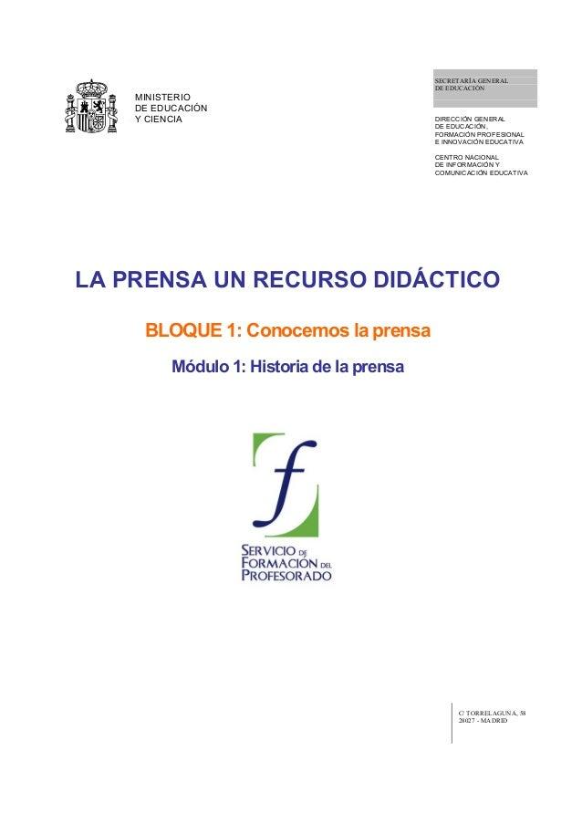SECRETARÍA GENERAL                                            DE EDUCACIÓN    MINISTERIO    DE EDUCACIÓN    Y CIENCIA     ...