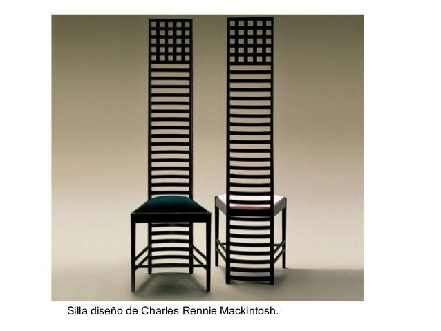 Silla diseño de Charles Rennie Mackintosh.