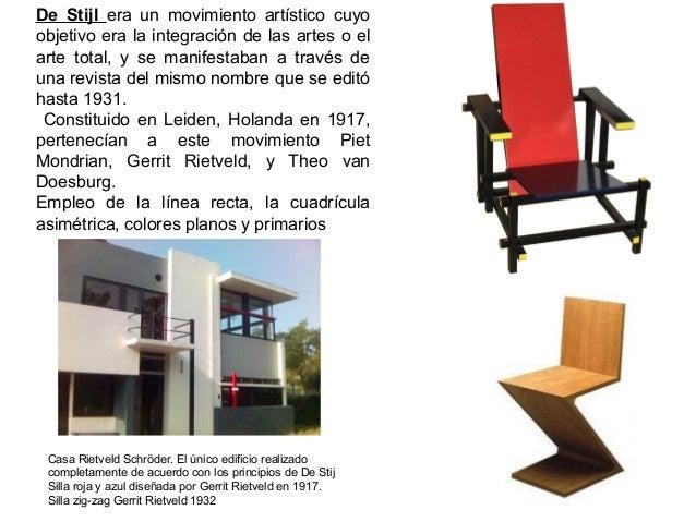 De Stijl era un movimiento artístico cuyo objetivo era la integración de las artes o el arte total, y se manifestaban a tr...
