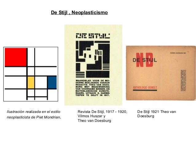 Ilustración realizada en el estilo neoplasticista de Piet Mondrian. Revista De Stijl, 1917 - 1920, Vilmos Huszar y Theo va...