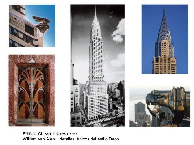 Edificio Chrysler Nueva York William van Alen detalles típicos del estilo Decó