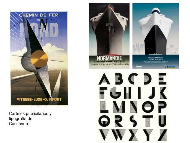 Carteles publicitarios y tipografía de Cassandre