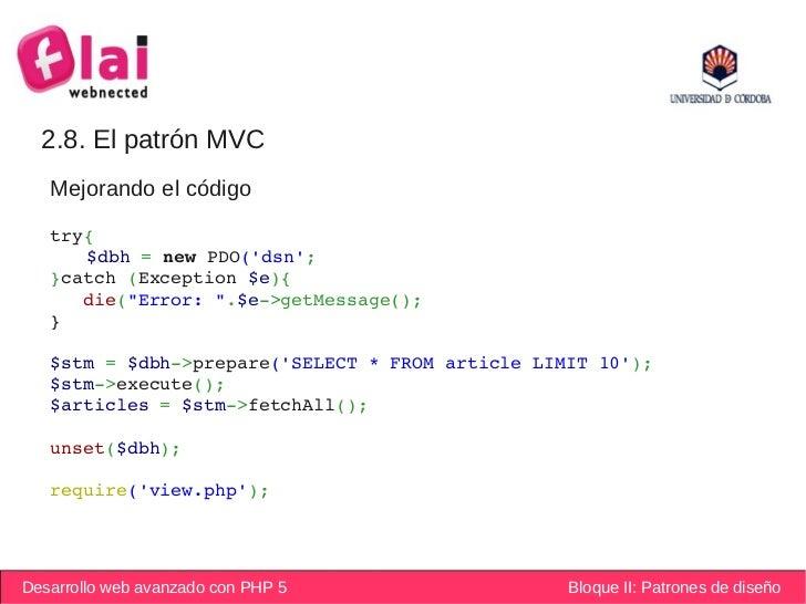PHP Avanzado: Patrones de diseño