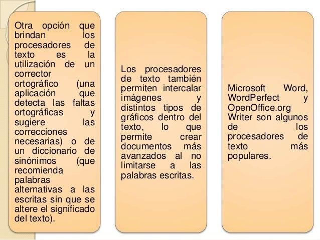 PROCESADORES DE TEXTO Son aplicaciones informáticas destinadas a la creación, edición, modificación, corrección e impresió...