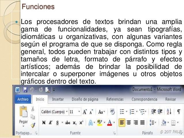   Como ocurre con la mayoría de las herramientas informáticas, los trabajos realizados en un procesador de textos pueden ...