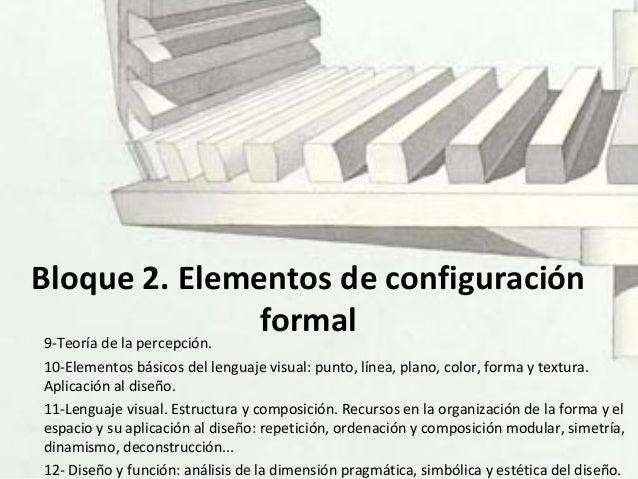 Bloque 2. Elementos de configuración formal9-Teoría de la percepción. 10-Elementos básicos del lenguaje visual: punto, lín...