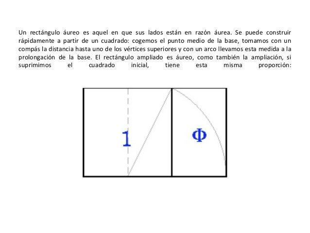 Un rectángulo áureo es aquel en que sus lados están en razón áurea. Se puede construir rápidamente a partir de un cuadrado...
