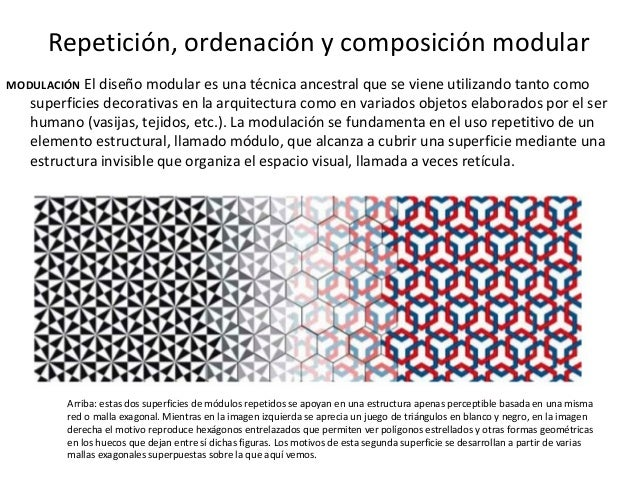 Repetición, ordenación y composición modular MODULACIÓN El diseño modular es una técnica ancestral que se viene utilizando...