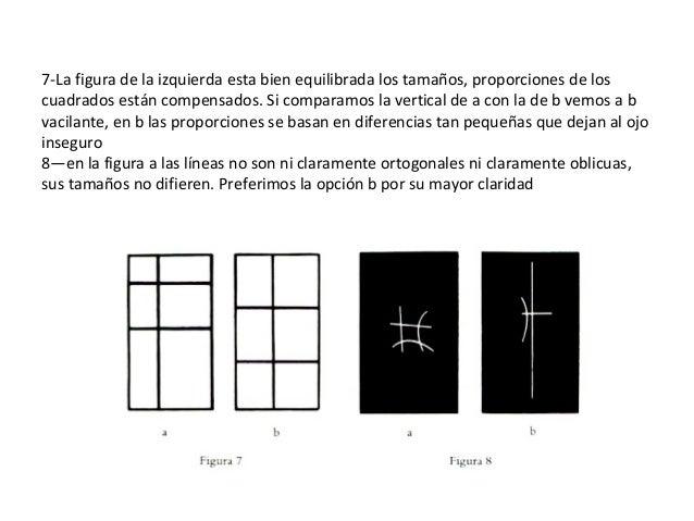 7-La figura de la izquierda esta bien equilibrada los tamaños, proporciones de los cuadrados están compensados. Si compara...