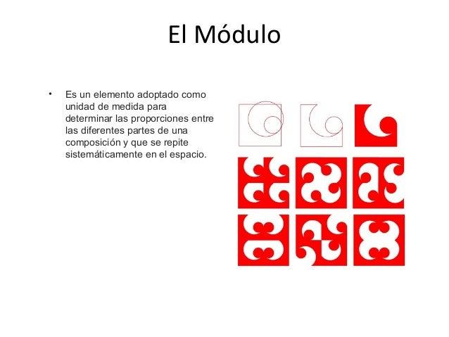 • Los Módulos son formas idénticas o similares que aparecen más de una vez en un diseño.