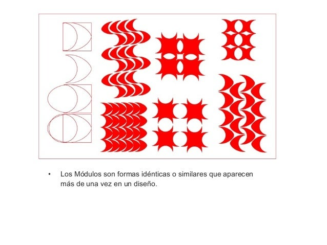 • A) Repetición de Figura: La figura es siempre el elemento más importante. Las figuras que se emplean pueden tener difere...