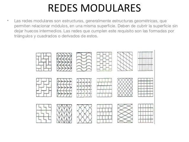 • La combinación y repetición de módulos permite construir mosaicos.