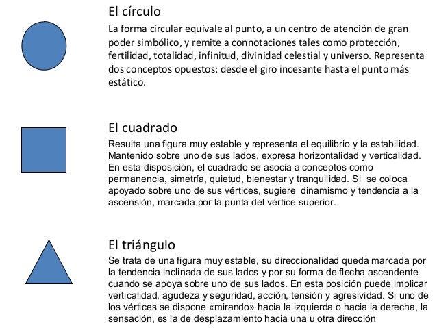 El círculo La forma circular equivale al punto, a un centro de atención de gran poder simbólico, y remite a connotaciones ...