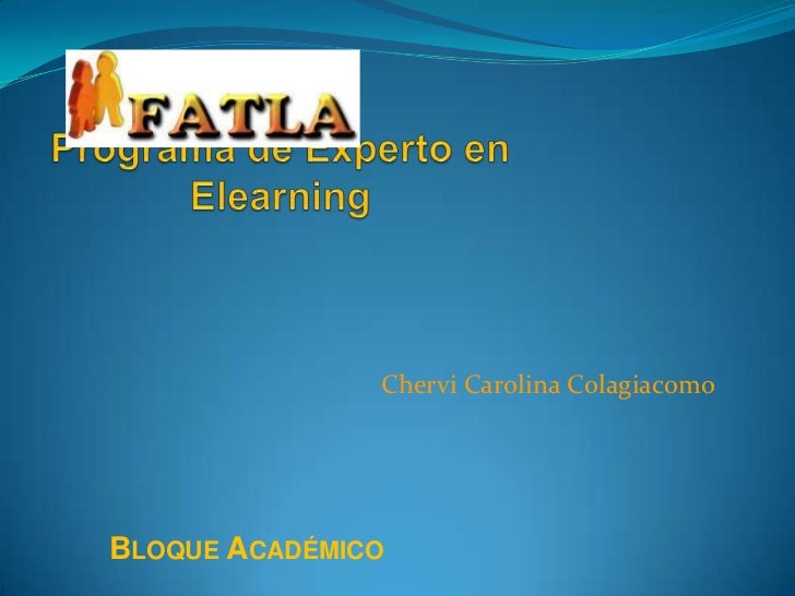 Chervi Carolina ColagiacomoBLOQUE ACADÉMICO