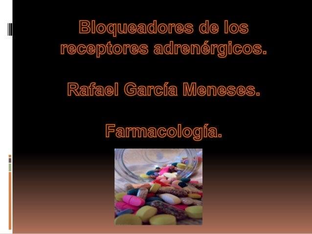 Antagonistas adrenérgicos alfa. El receptor adrenérgico α1 es uno de los tipos  de receptores adrenérgicos presentes en  ...