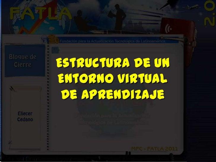 Estructura de unEntorno Virtual De Aprendizaje