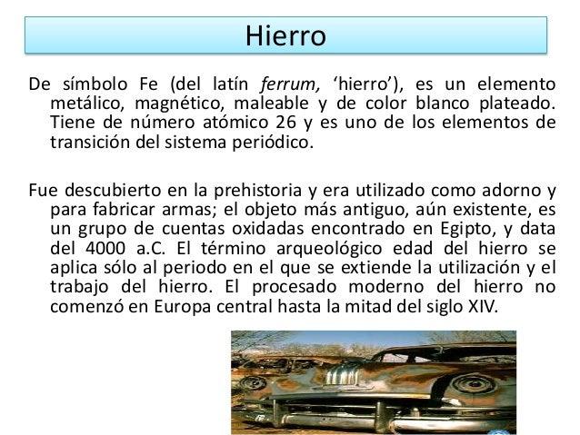 hierro - Tabla Periodica De Los Elementos Hierro