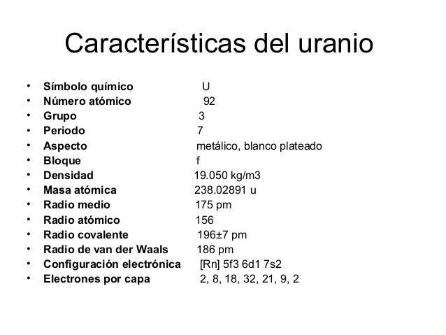 Bloque f grupo felix y wilber 11 caractersticas del uranio urtaz Images