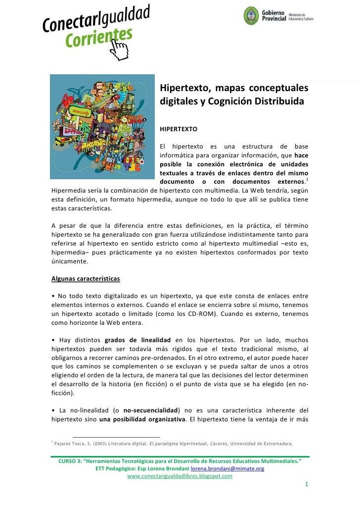 Hipertexto, mapas conceptuales                                                   digitales y Cognición Distribuida        ...