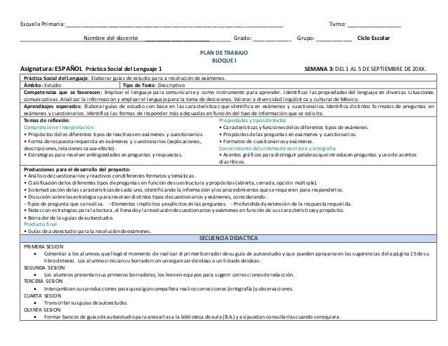 Planificacion essay