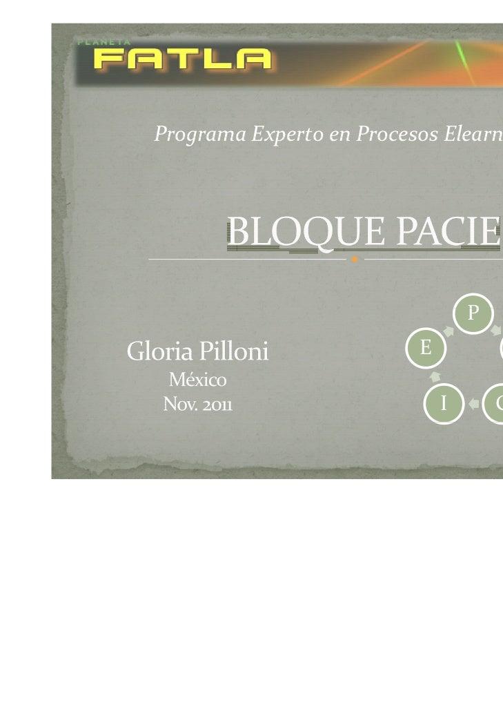 ProgramaExpertoenProcesosElearning                                  P                          E               A      ...