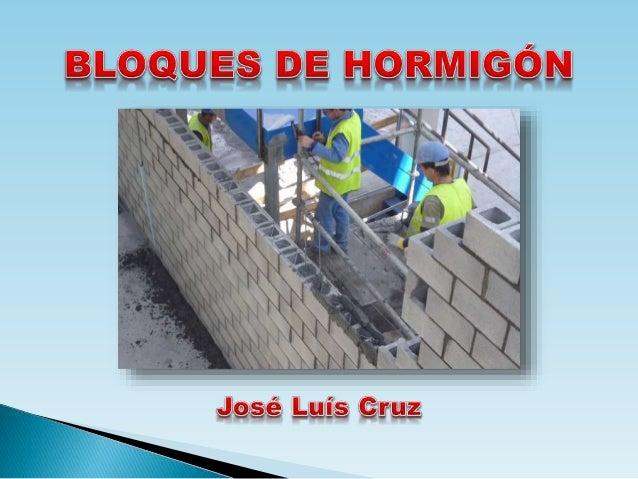 Bloques de hormigón -Blocks de Construcción