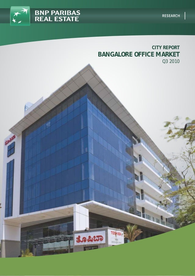 CITY REPORT BANGALORE OFFICE MARKET Q3 2010