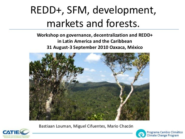 REDD+, SFM, development, markets and forests.<br />Workshop on governance, decentralization and REDD+ <br />in Latin Ameri...