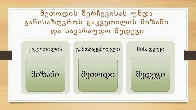 მეთოდები  და  აქტივობები Slide 3