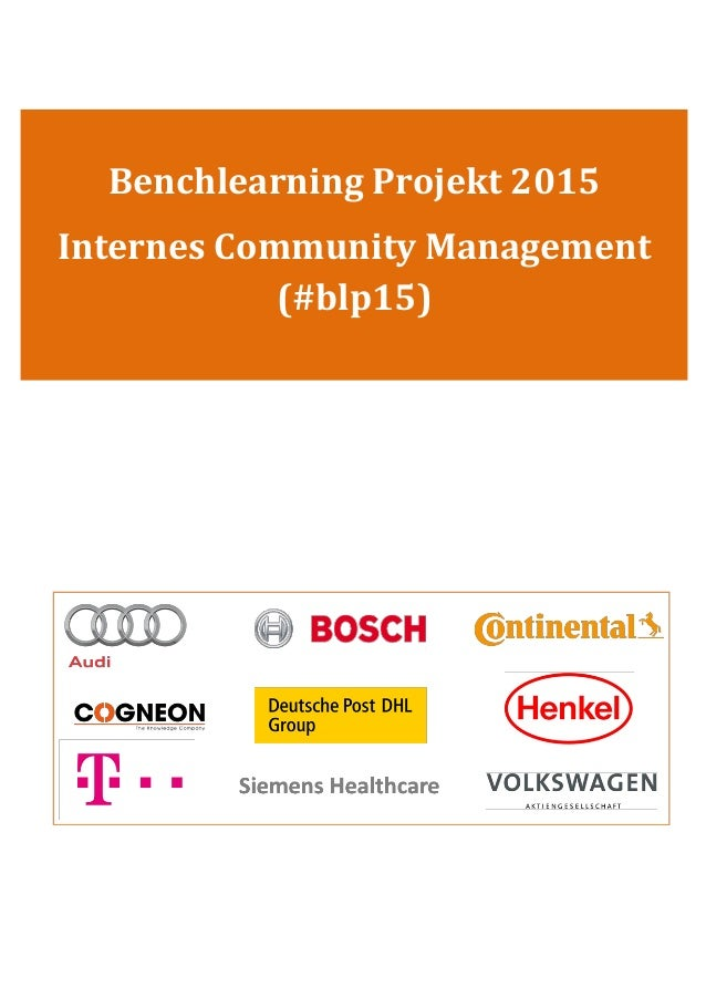 Benchlearning Projekt 2015 Internes Community Management (#blp15)