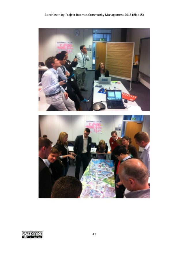 Benchlearning Projekt Internes Community Management 2015 (#blp15) 41