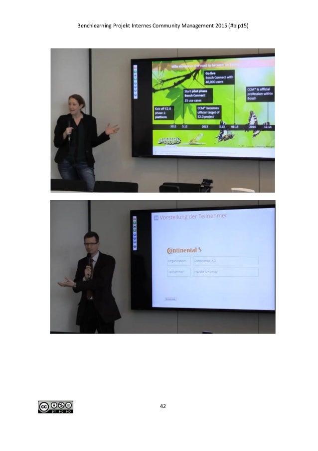 Benchlearning Projekt Internes Community Management 2015 (#blp15) 42