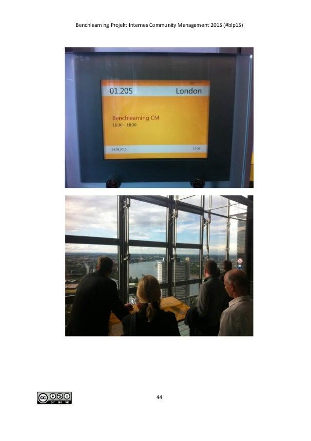Benchlearning Projekt Internes Community Management 2015 (#blp15) 44
