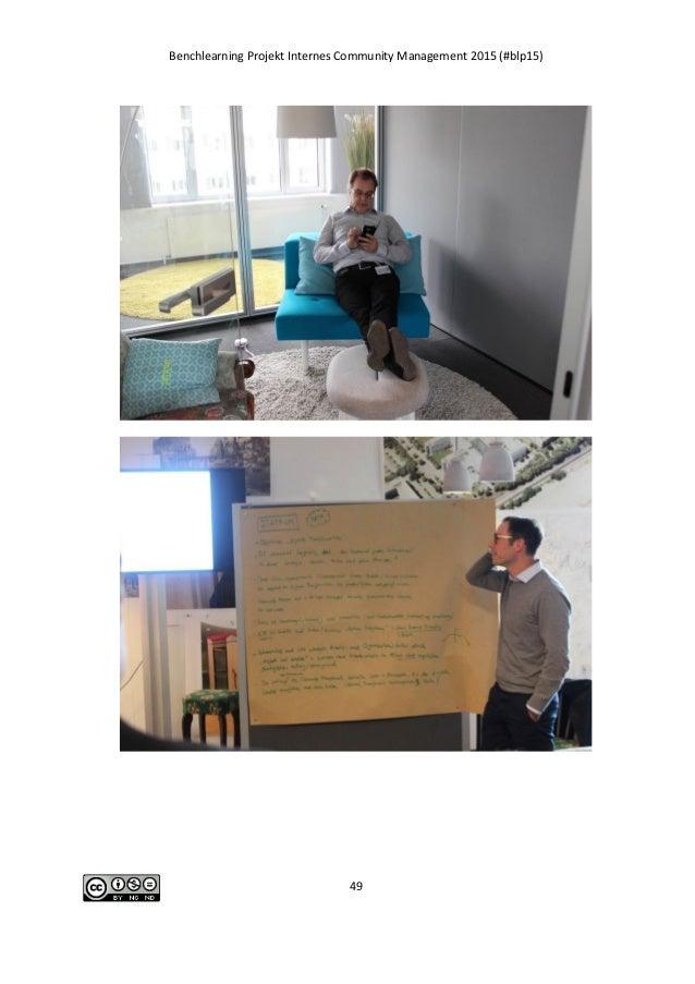 Benchlearning Projekt Internes Community Management 2015 (#blp15) 49